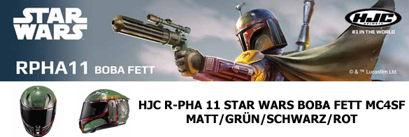 HJC R-PHA 11 STAR WARS BOBA FETT MC4SF MATT/GRÜN/SCHWARZ/ROT