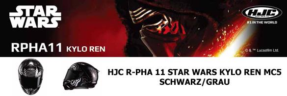 HJC R-PHA 11 STAR WARS KYLO REN MC5  SCHWARZ/GRAU