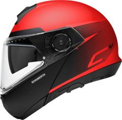 SCHUBERTH KLAPPHELM C4 RESONANCE MATT/ROT/SCHWARZ