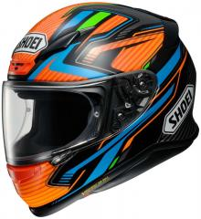 SHOEI NXR STAB TC-8 ORANGE/SCHWARZ/BLAU