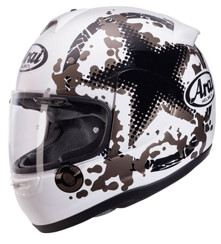 ARAI AXCES II COMET WHITE