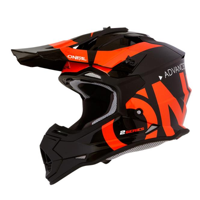 O´NEAL 2SERIES RL HELM SLICK SCHWARZ/ORANGE