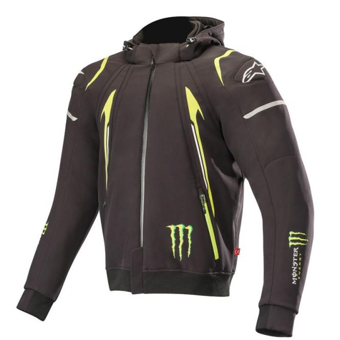 ALPINESTARS MERCURY TECH KAPUZENPULLOVER MONSTER ENERGY SCHWARZ/GRÜN