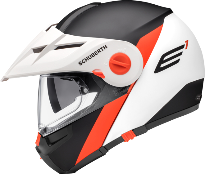 SCHUBERTH E1 GRAVITY MATT/SCHWARZ/WEIß/ORANGE