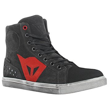 DAINESE STREET BIKER LADY D-WP SHOES CARBON/ROT
