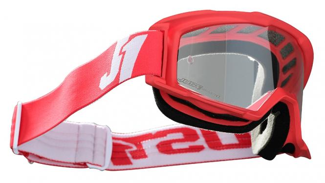 JUST1 VITRO MX-GOGGLE CROSSBRILLE ROT/WEIß