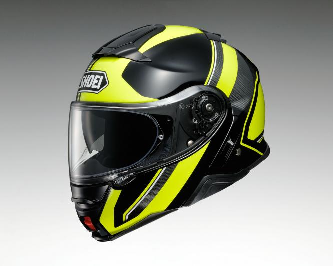 SHOEI NEOTEC II EXCURSION TC-3 SCHWARZ/NEONGELB