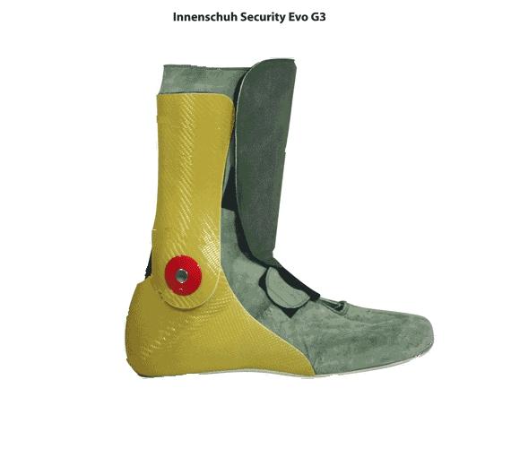 DAYTONA SECURITY EVO G3 NUR INNENSCHUH GRAU/GELB