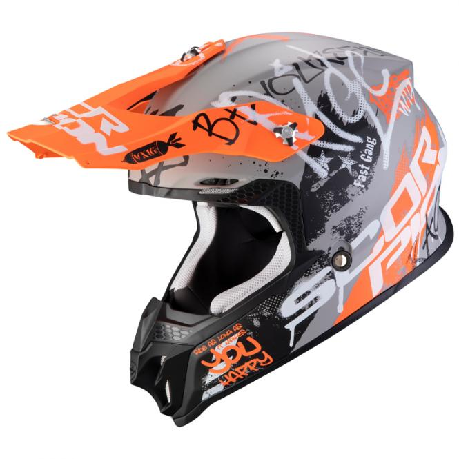 SCORPION VX-16 AIR ORATIO MATT/GRAU/ORANGE