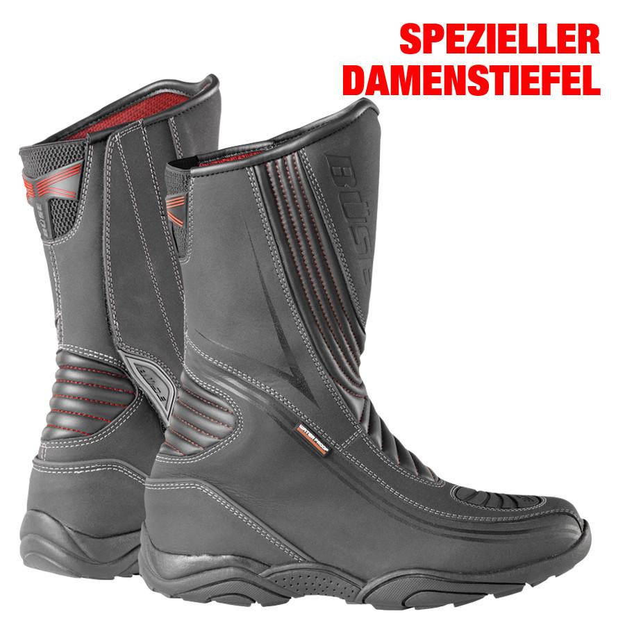 Büse D10 Wasserdicht Stiefel Damen Schwarz D38 6E2cRlV